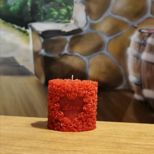Kerze Herzform Love