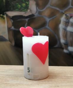 Geldgeschenk Kerze Valentine
